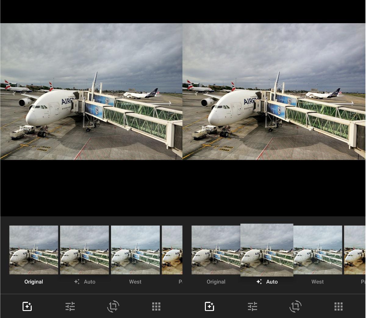 Google Photos offers an autofix option.