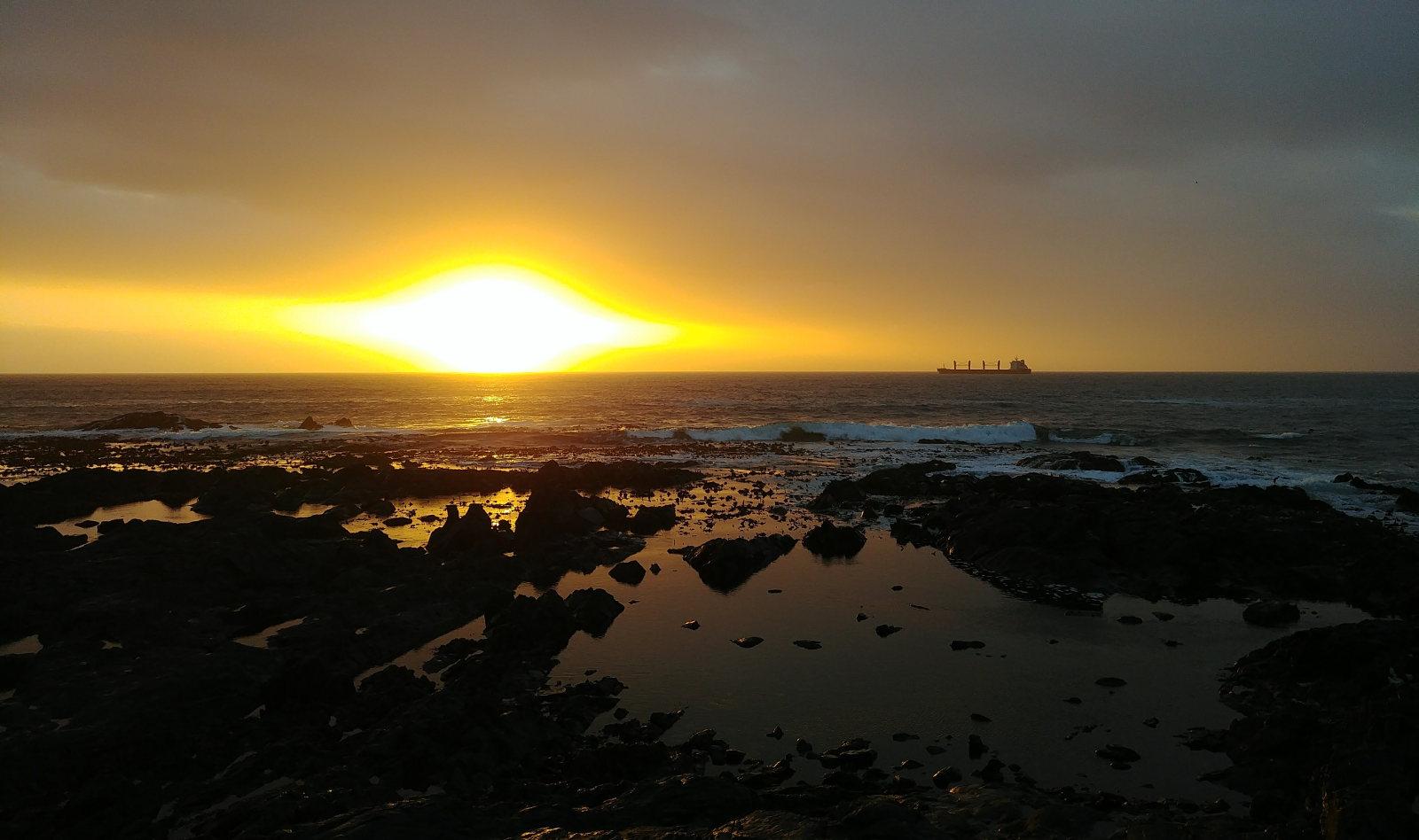 A photo of the sun.