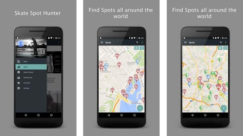 Skate location apps