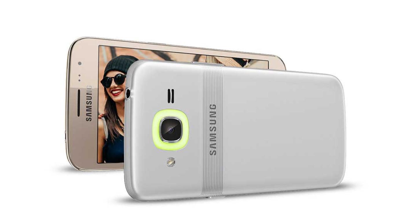 The Samsung Galaxy J2 Pro.