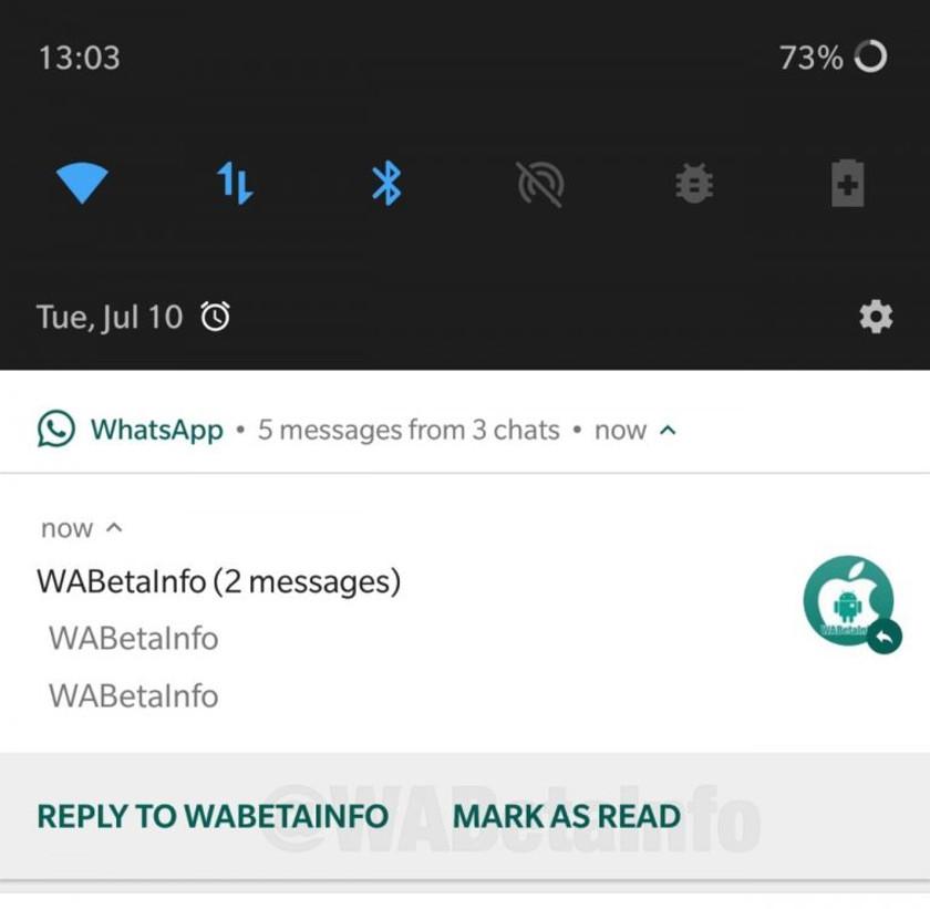 Mark as read functionality in WhatsApp.