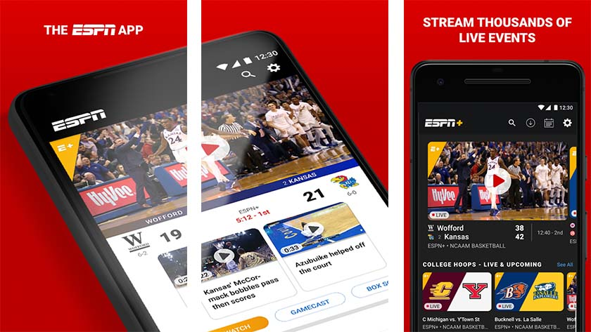 ESPN is one of the best sports apps for android Ufc