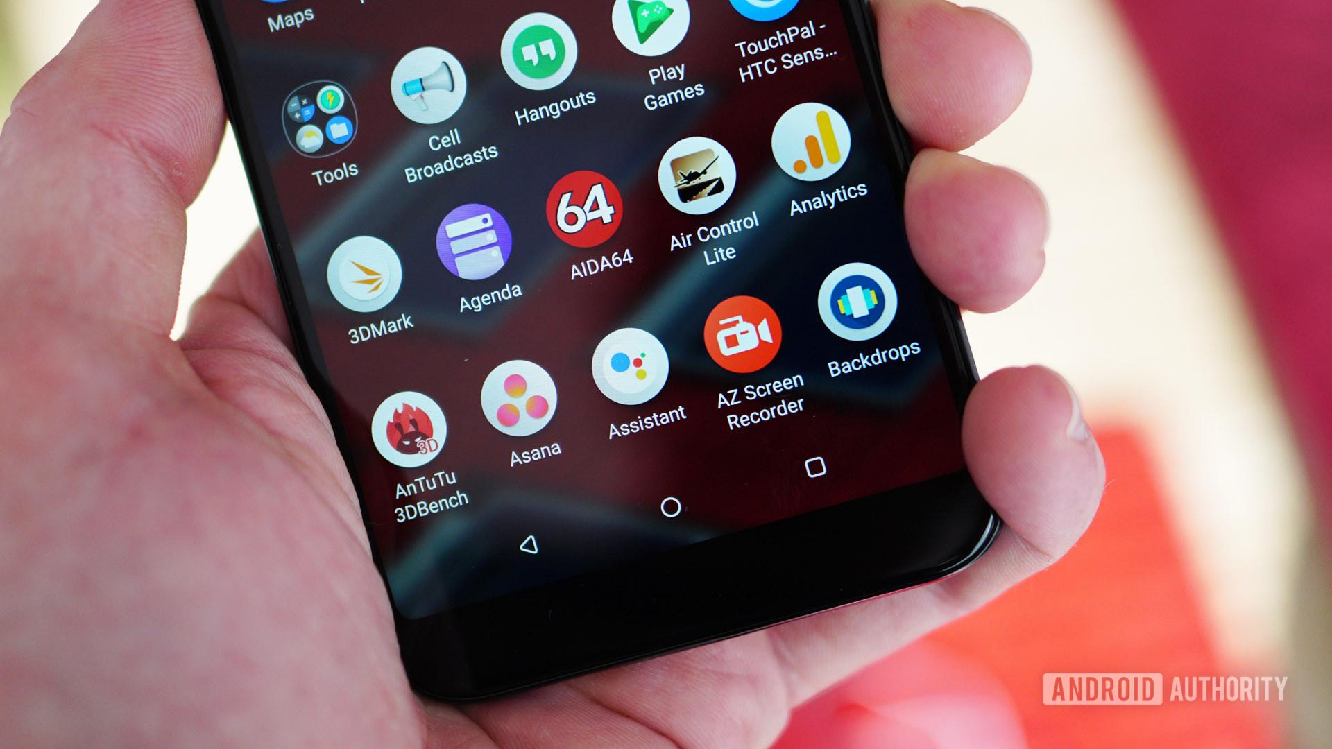 HTC U12 Life app drawer