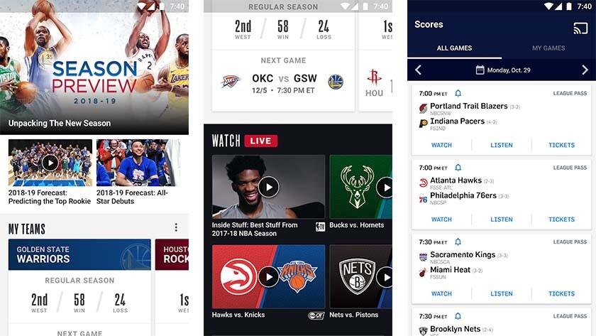 NBA and NBA VR