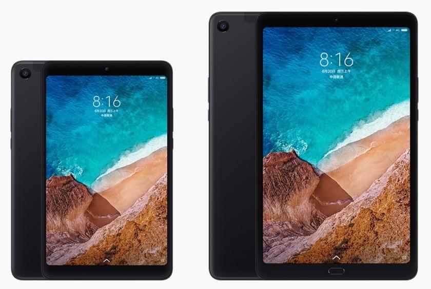 An image of the Xiaomi Mi Pad 4 next to the Xiaomi Mi Pad 4 Plus.