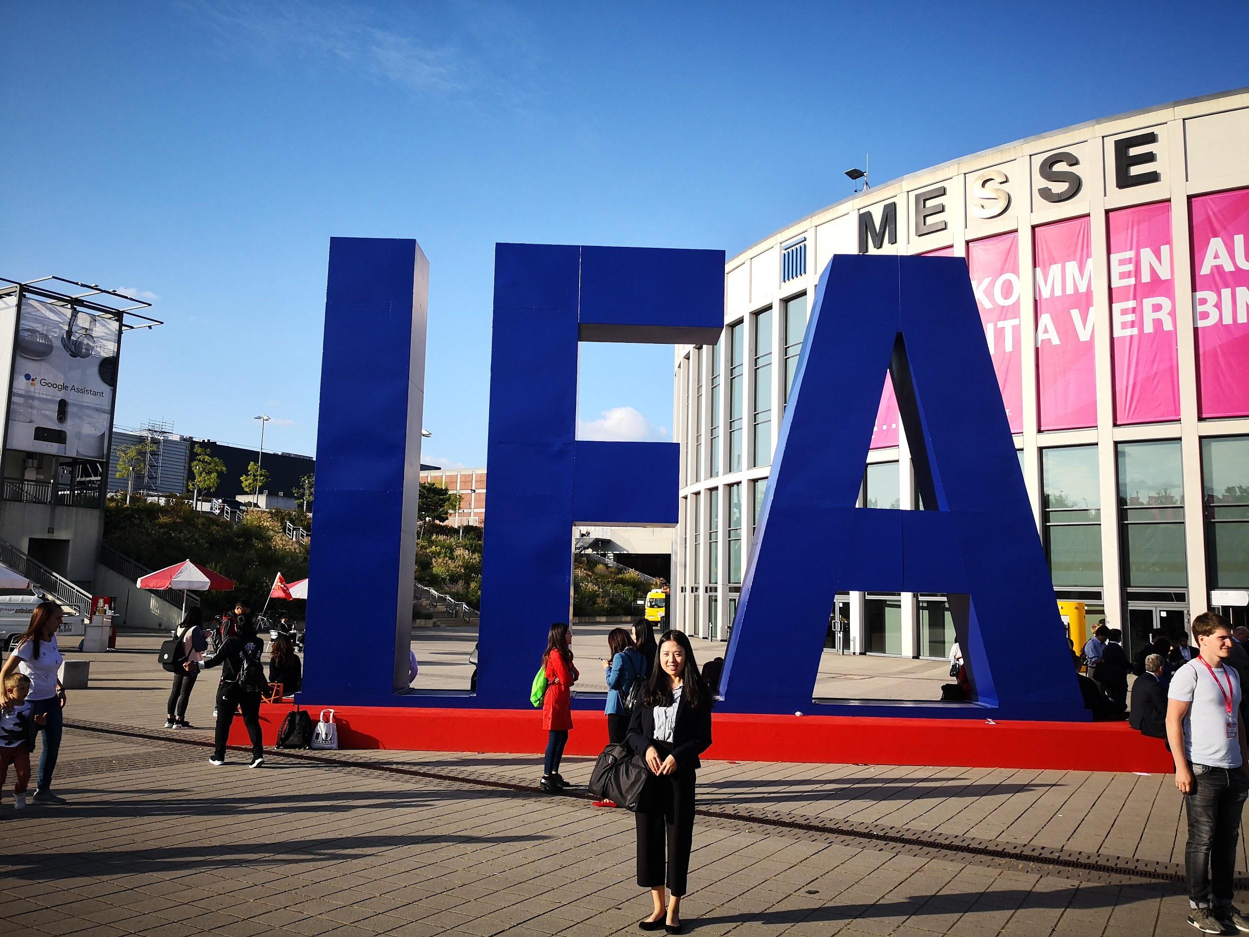 IFA Berlin 2018 logo outside of Messe, Berlin