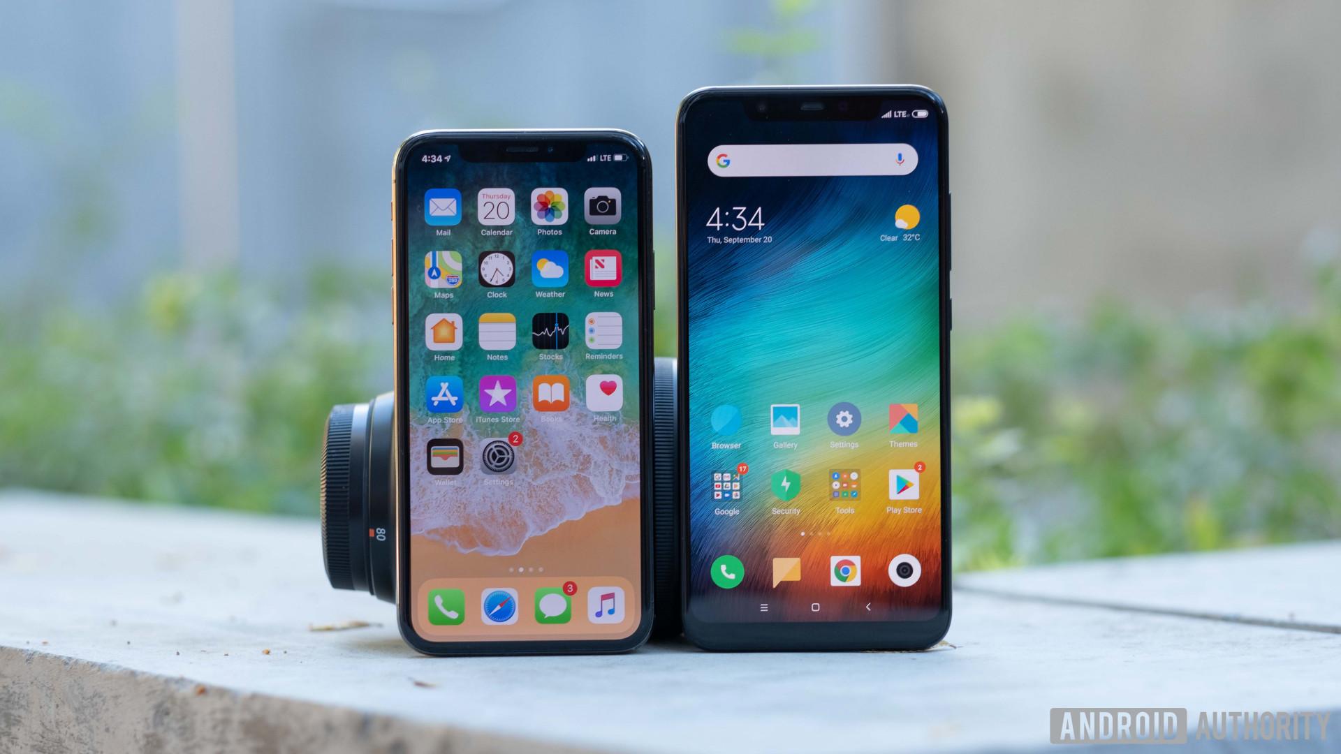 xiaomi mi 8 vs iphone x display