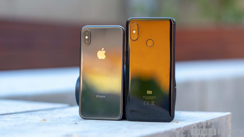 xiaomi mi 8 vs iphone x