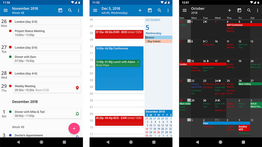 aCalendar - one of the best calendar apps for Android