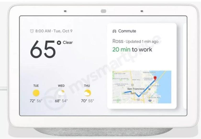 The rumored Google Home Hub smart speaker in a leaked render.