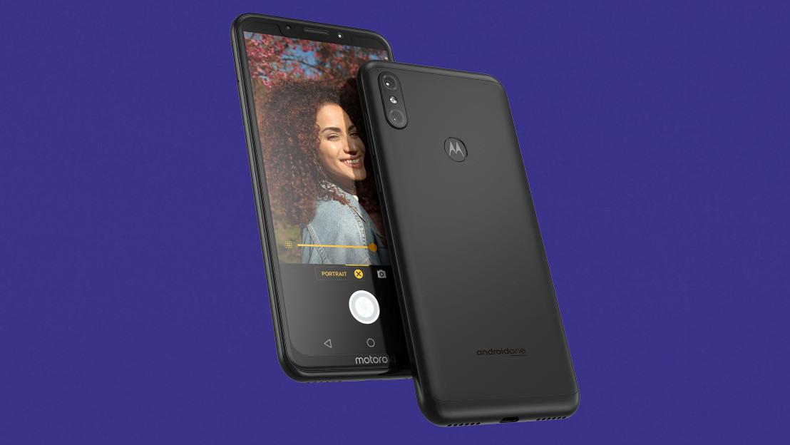 A promo shot, showing the Motorola One Power