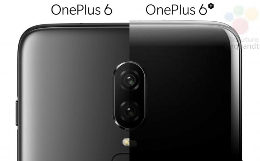 OnePlus 6 vs OnePlus 6T render