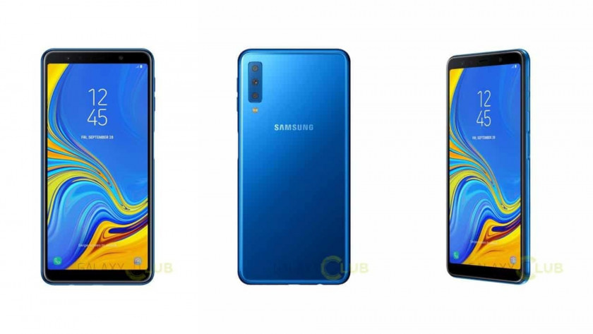 Samsung Galaxy A7 (2018) renders