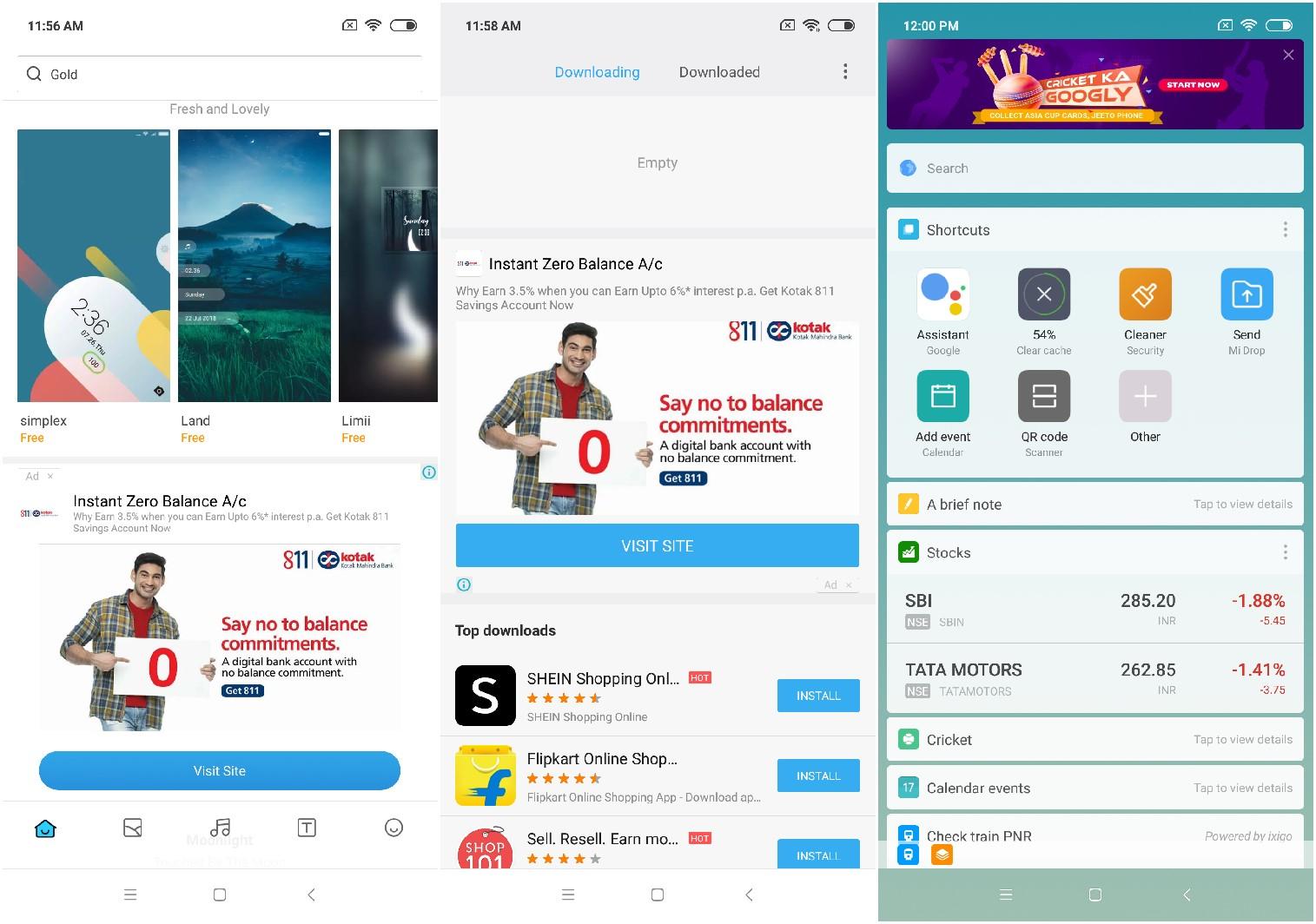 Xiaomi advertising in MIUI