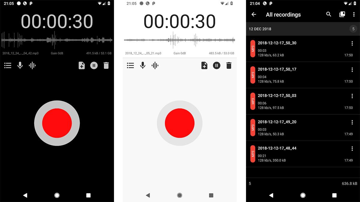 ASR Voice Reccorder apps