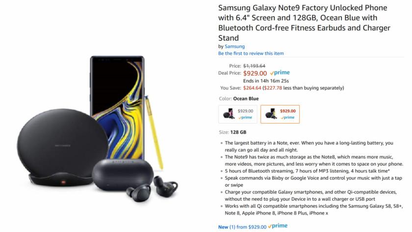 Galaxy Note 9 bundle affaire.