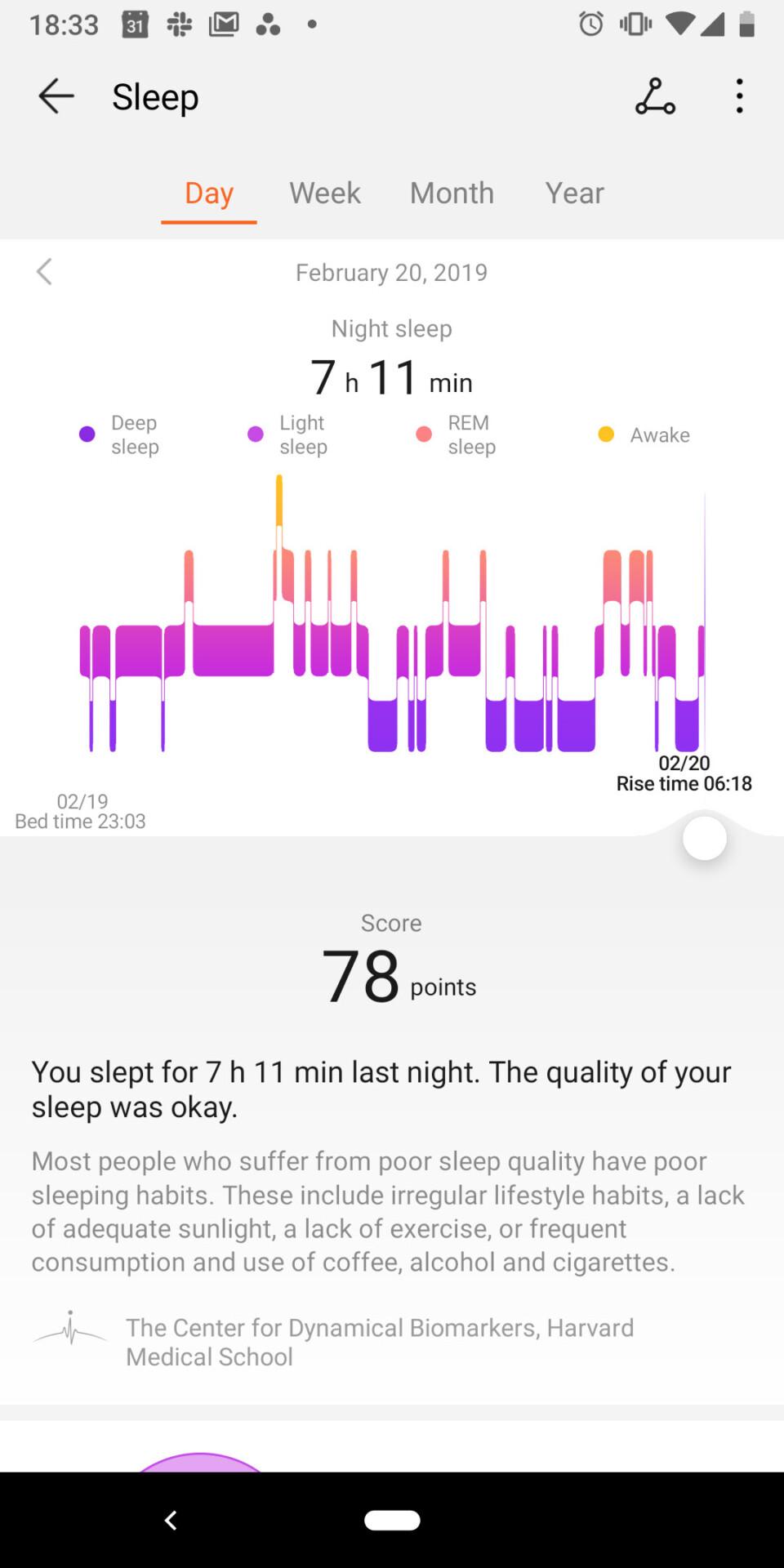 Huawei Health app - steps