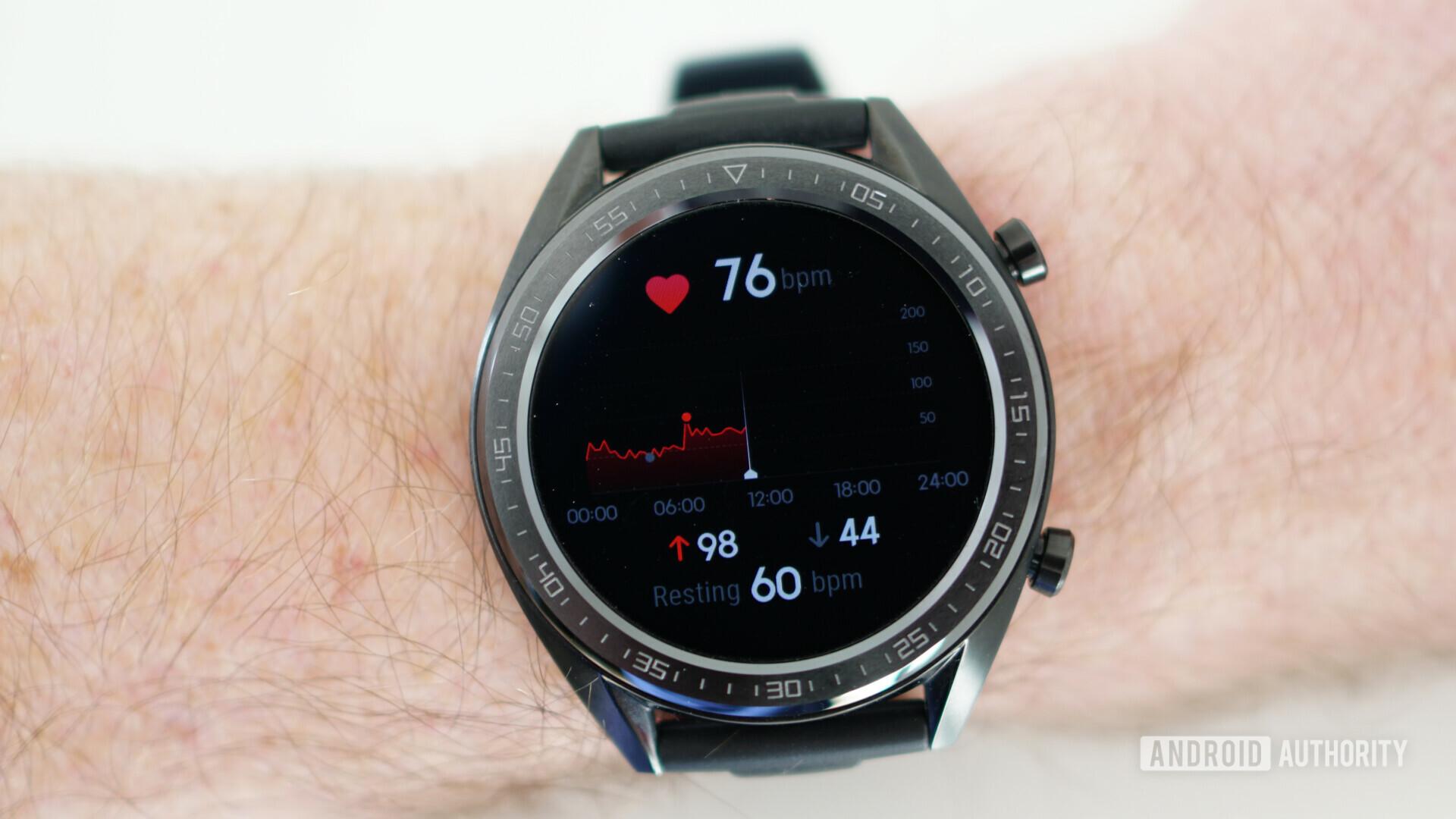 Huawei Watch GT heart rate tracking