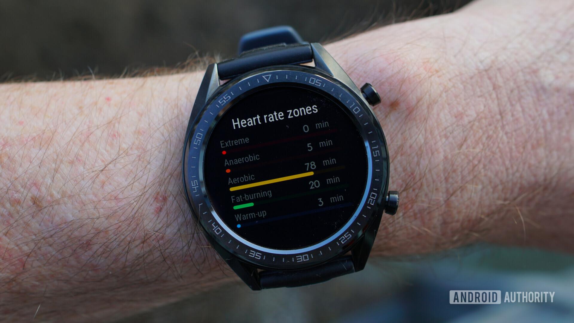 Huawei Watch GT heart rate zones