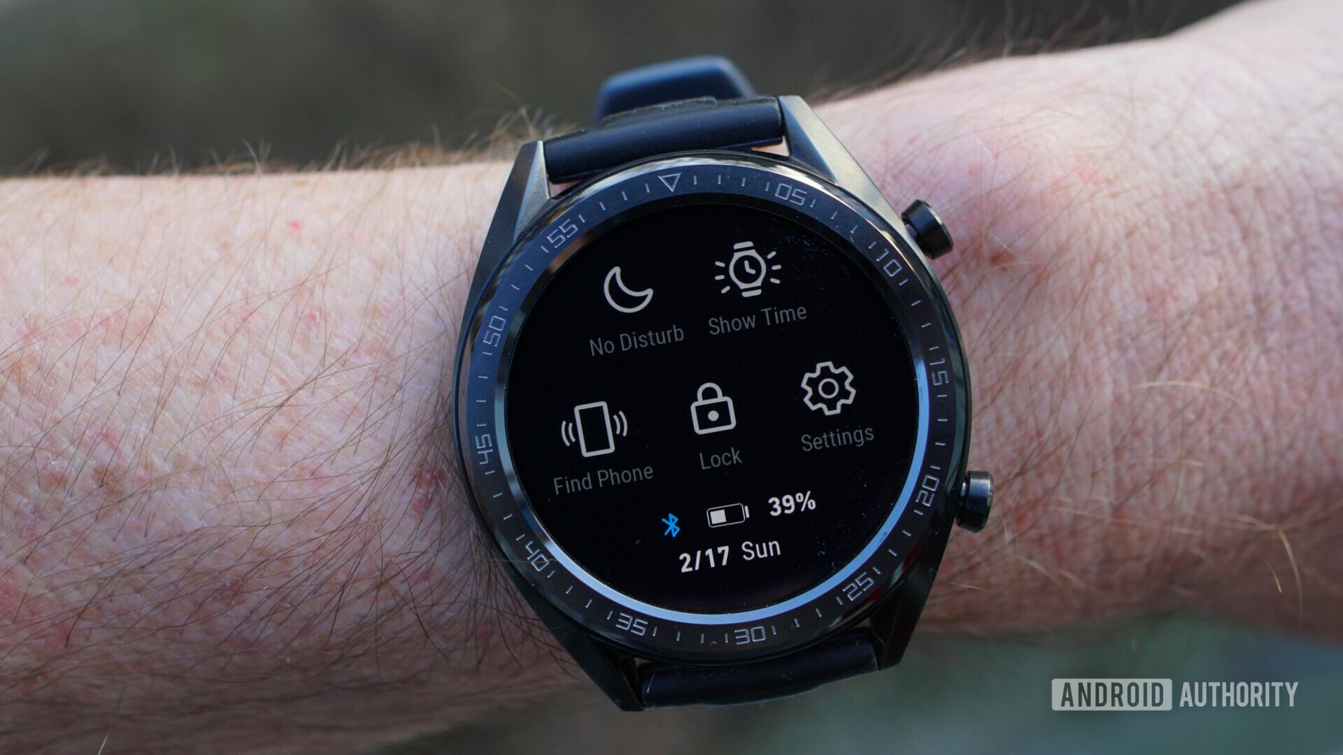 Huawei Watch GT quick settings