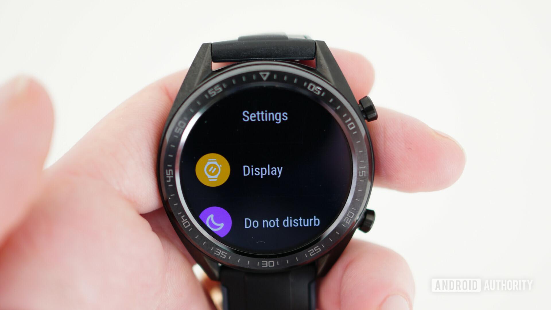 Huawei Watch GT settings