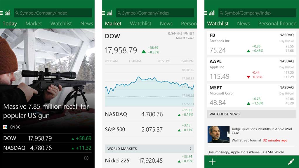 MSN Money is one of the best stock market apps for android