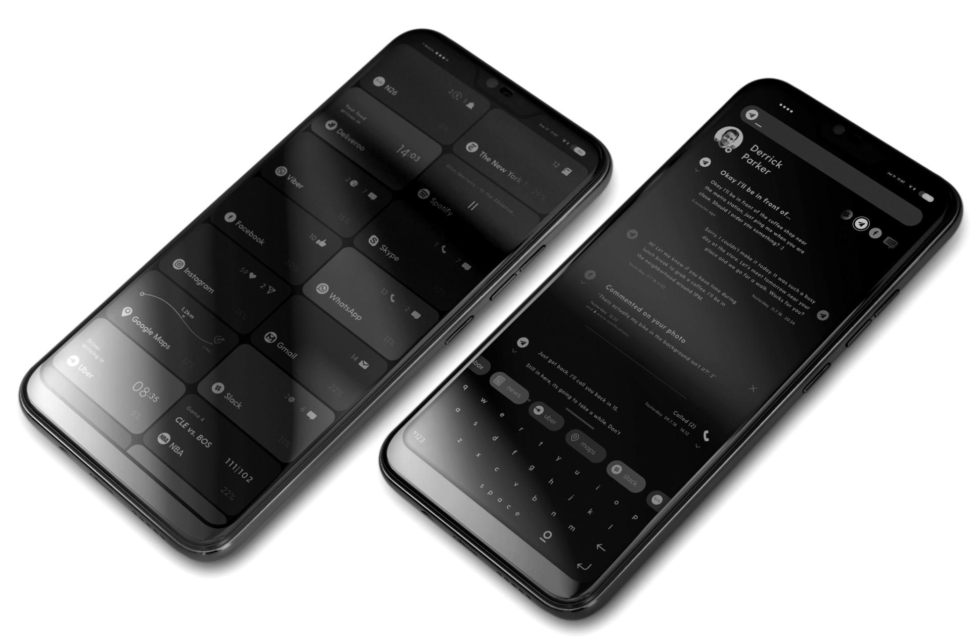 Two images of the Blloc Zero 18 smartphone.