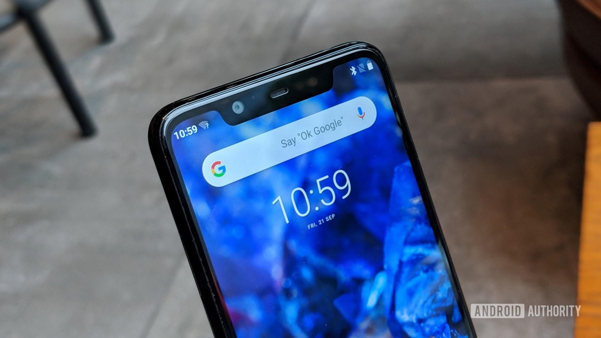 Nokia 5.1 Plus home screen