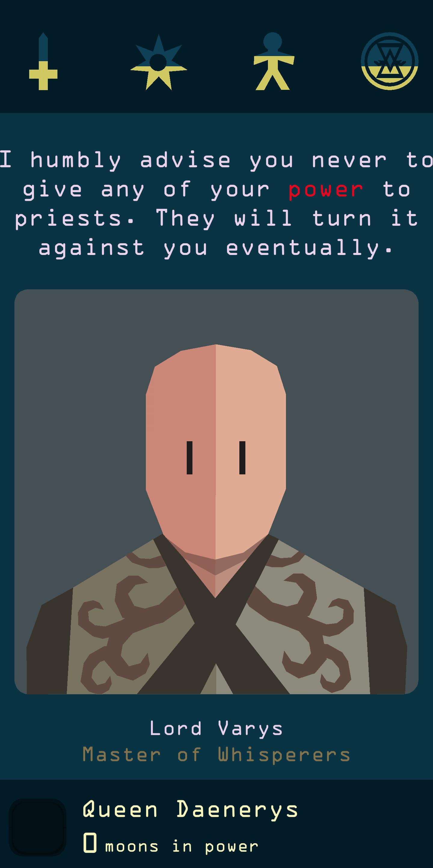 Reigns: Game of Thrones Lord Vayris screenshot