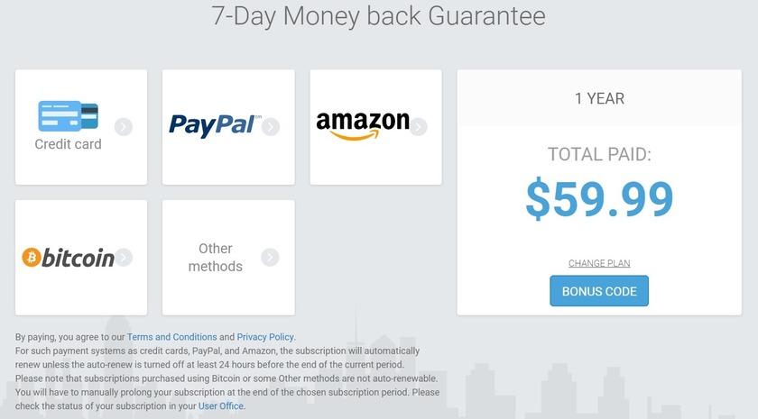 vpn unlimited payment options