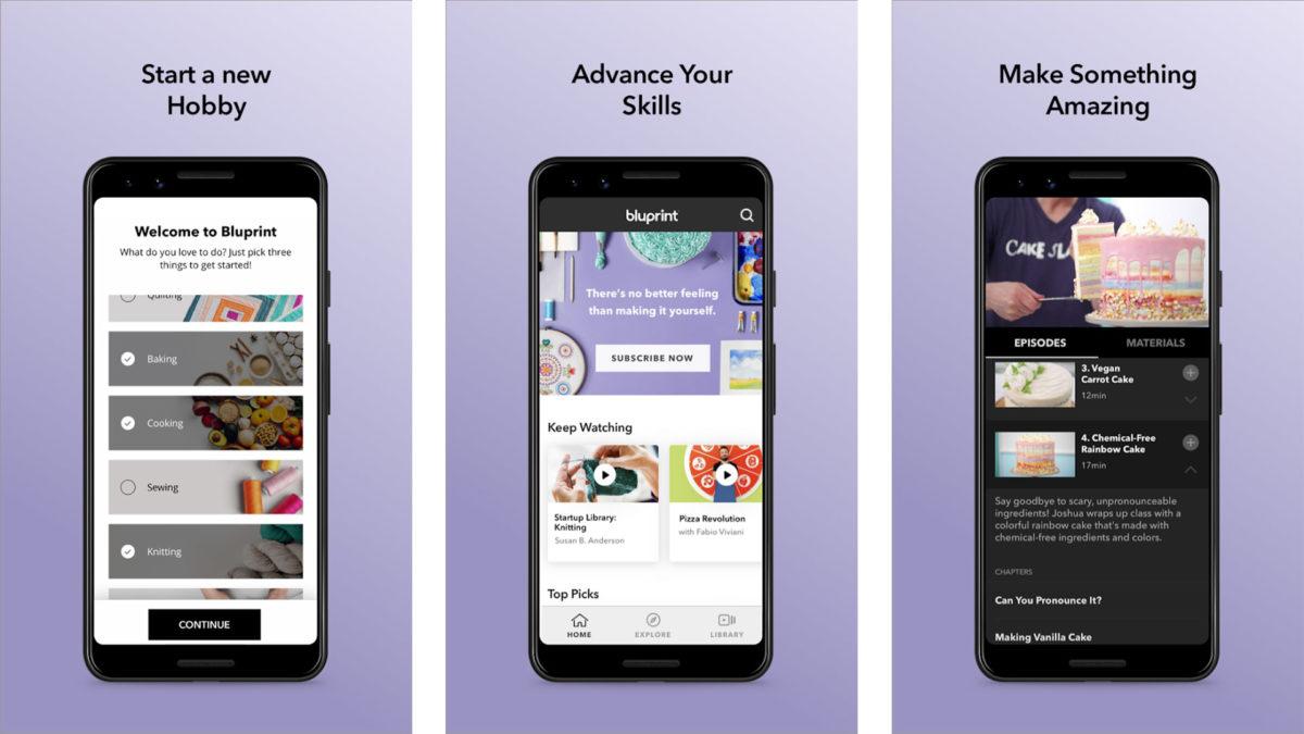 Blueprint screenshot 2019 for the best craft apps