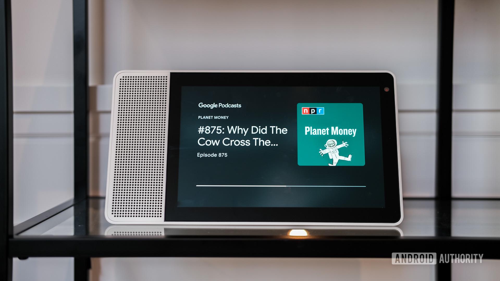 Lenovo Smart Display Podcasts