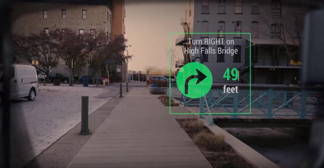 futuristic navigation using goggles