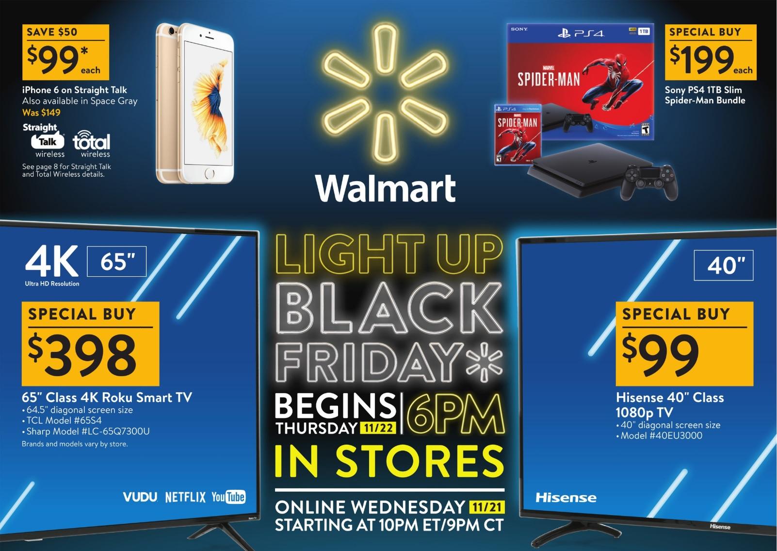 A Walmart Black Friday 2018 deals poster.