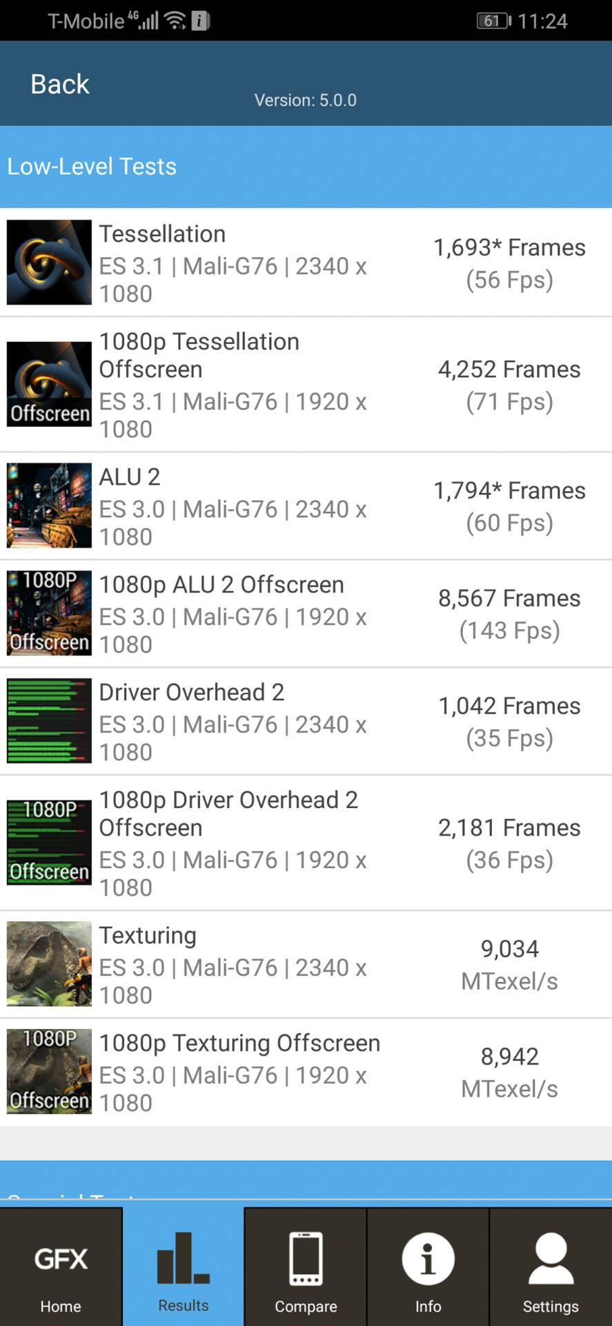 Screenshot of the honor Magic 2 3d mark benchmark results