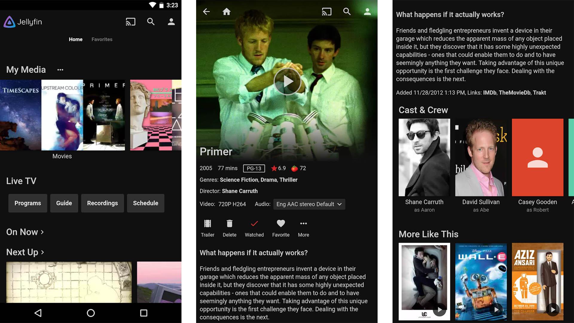 Jellyfin screenshot - best media center apps