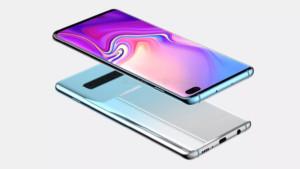 Leaked renders of the Samsung Galaxy S10 Plus.