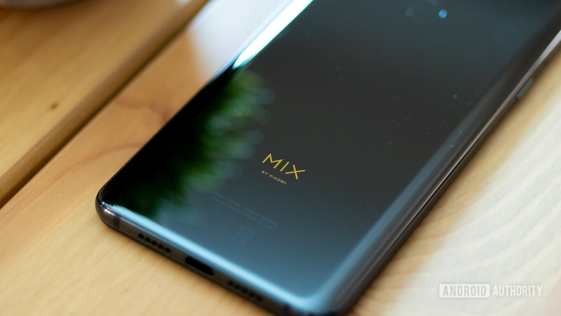 Backside of the Xiaomi Mi Mix 3