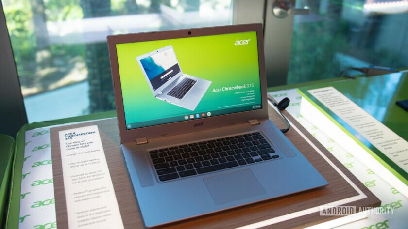 Acer Chromebook 315 - front side at CES 2019