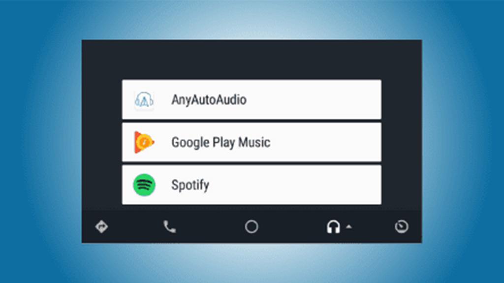 Android Auto music players - anyautoaudio