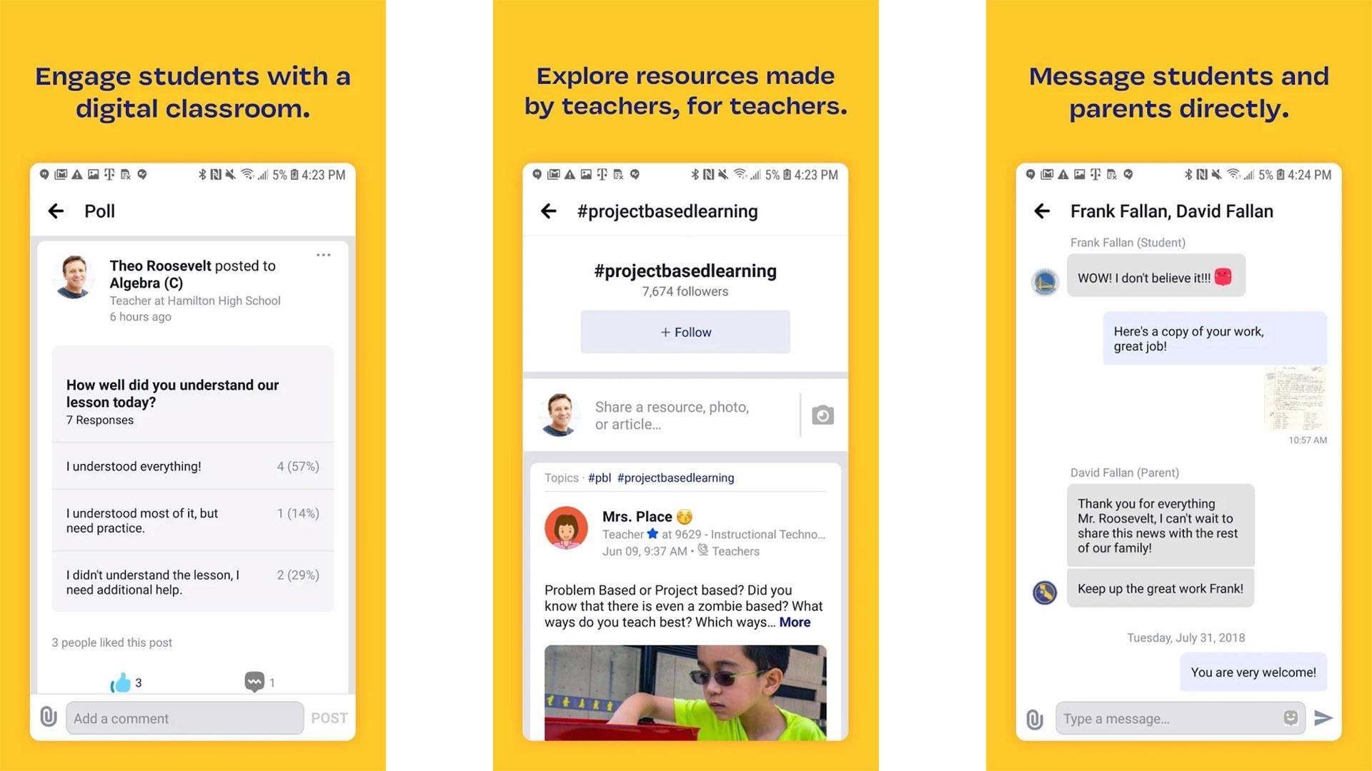 Edmodo screenshot for the best teacher apps list
