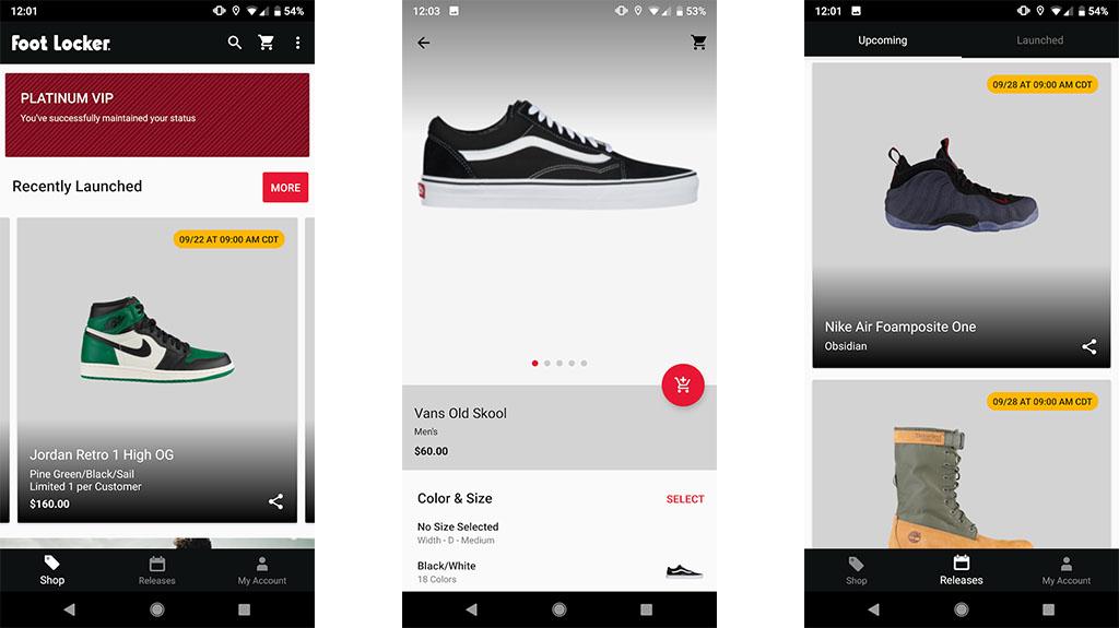 Foot Locker - best shoe apps