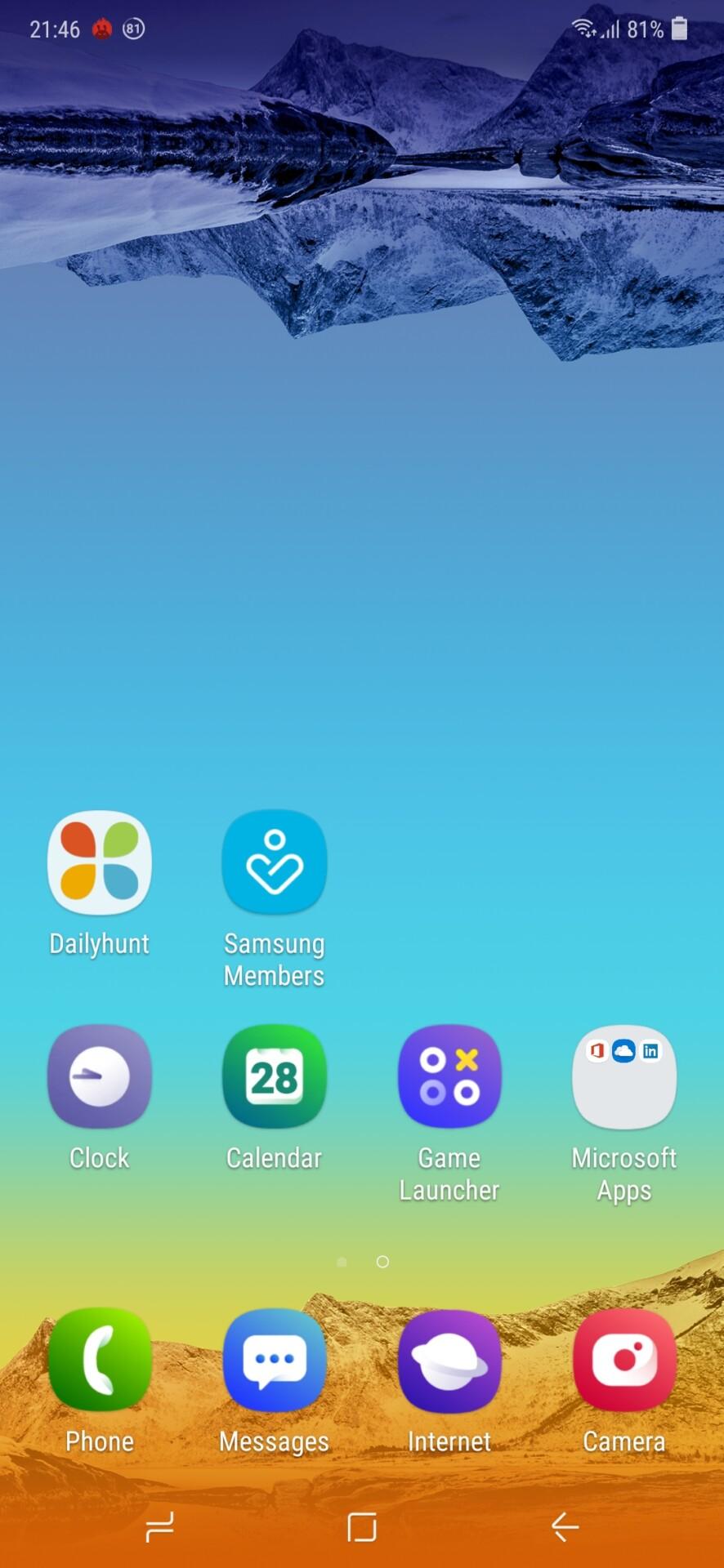 Samsung Galaxy M20 Default Homescreen