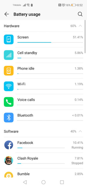 Honor View 20 battery test