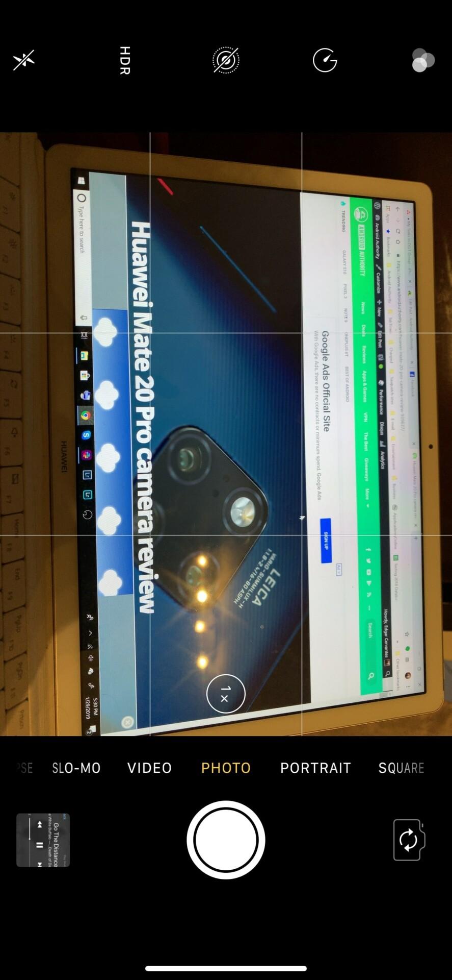 iPhone XS Max camera app options