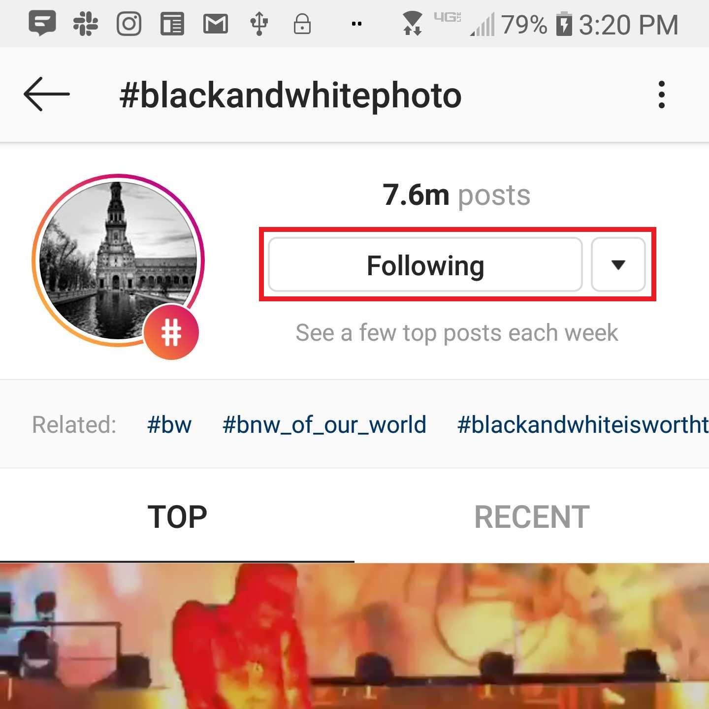 Instagram screenshot confirming follow hashtags - Tips & Tricks for Instagram