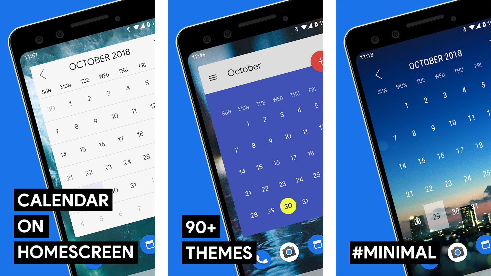 Month Calendar Widget screenshot for the best android widgets list