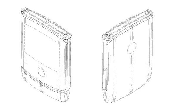 A Motorola patent filing showing the potential Motorola Razr