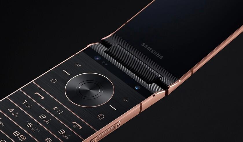 The Samsung Galaxy W2019 in bronze.