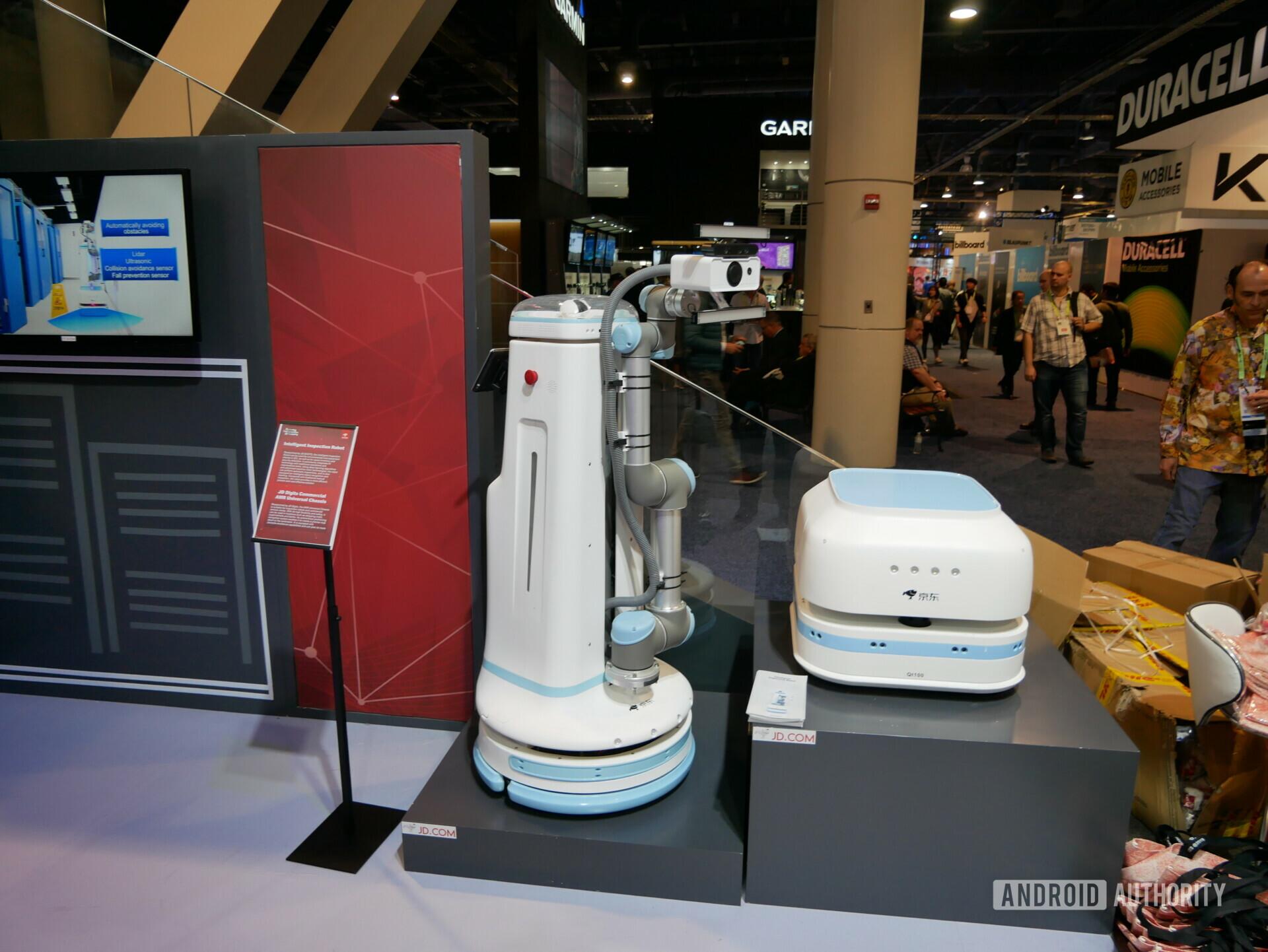 JD Digit has an industrial robot that inspects servers autonomously.